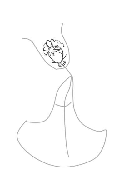 как нарисовать царевну лебедь шаг 3