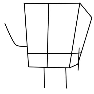 как нарисовать спанч боба поэтапно шаг 3