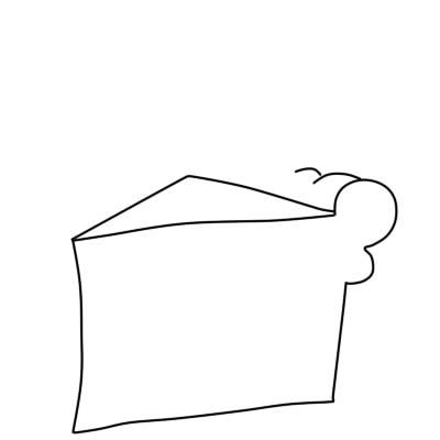 как нарисовать пирожное шаг 3