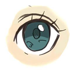 как рисовать аниме глаза шаг 3