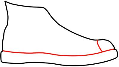 как нарисовать кеды шаг 3
