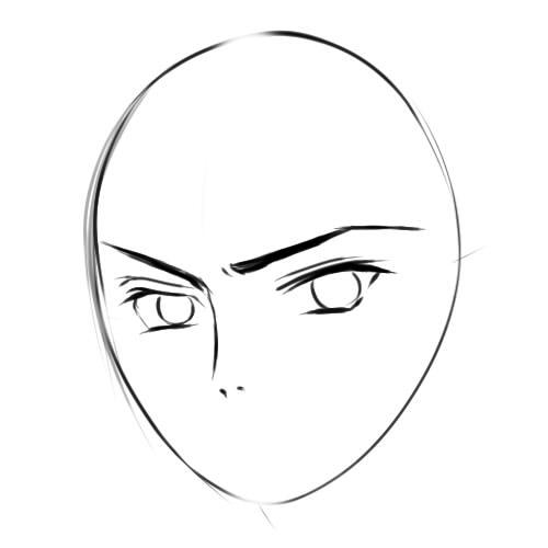 как нарисовать аниме парня шаг 3