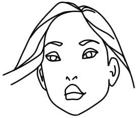 как нарисовать покахонтас шаг 3