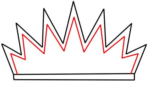 как нарисовать украшение корону 3
