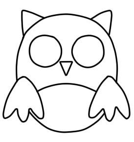 как нарисовать сову ребенку шаг 3
