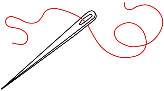 как нарисовать иголку шаг 3