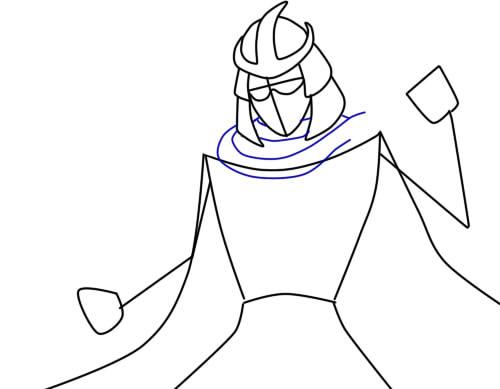 как нарисовать шредера шаг 4