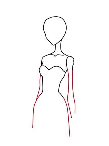 как нарисовать труп невесты шаг 4