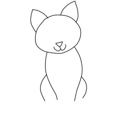 как нарисовать кошку поэтапно ребенку 4