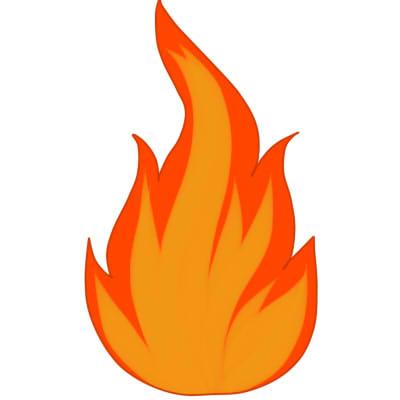 как нарисовать огонь поэтапно шаг 4