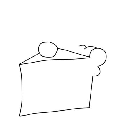 как нарисовать пирожное шаг 4