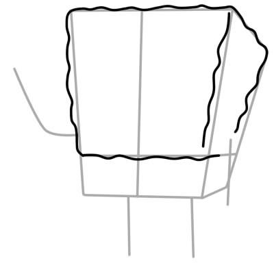 как нарисовать спанч боба поэтапно шаг 4
