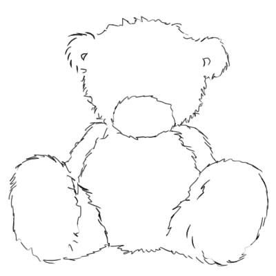 как нарисовать поэтапно мишку тедди шаг 4