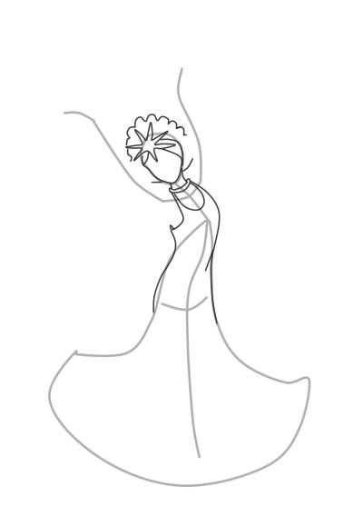 как нарисовать царевну лебедь шаг 4