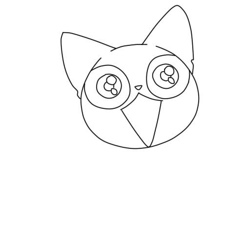 как нарисовать аниме кошку шаг 4