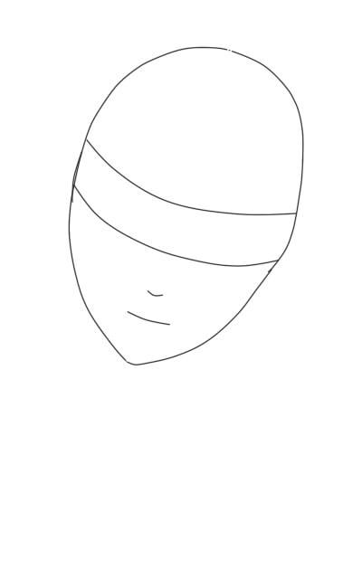 как нарисовать аниме девушку карандашом шаг 4