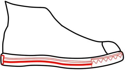 как нарисовать кеды шаг 4