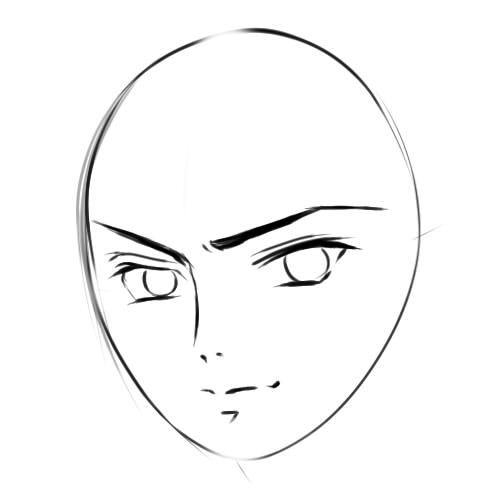 как нарисовать аниме парня шаг 4