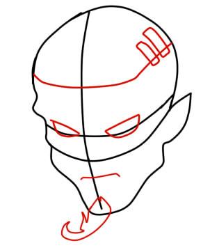 как нарисовать ремингтона из вакфу шаг 4