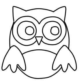 как нарисовать сову ребенку шаг 4