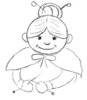 как нарисовать бабушку шаг 4