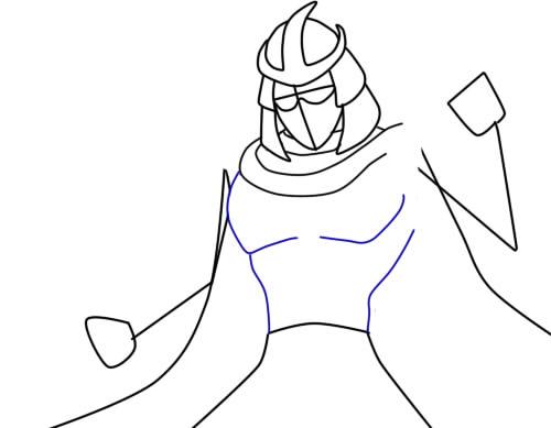 как нарисовать шредера шаг 5