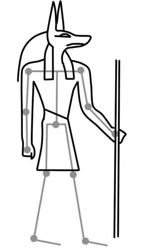 как нарисовать анубиса шаг 5