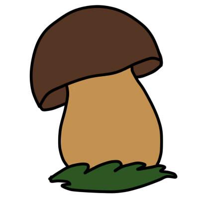 Как нарисовать грибы поэтапно карандашом 5