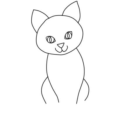 как нарисовать кошку поэтапно ребенку 5
