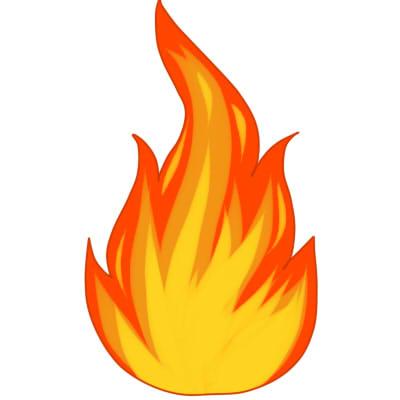 как нарисовать огонь поэтапно шаг 5