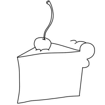 как нарисовать пирожное шаг 5