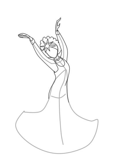 как нарисовать царевну лебедь шаг 5
