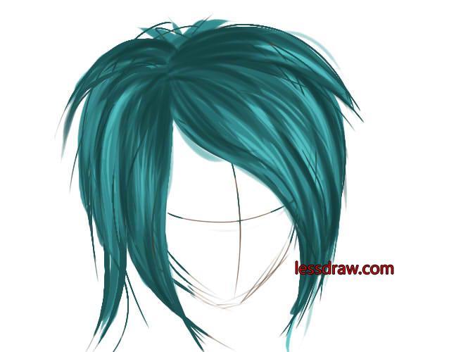 как рисовать в саи волосы шаг 5