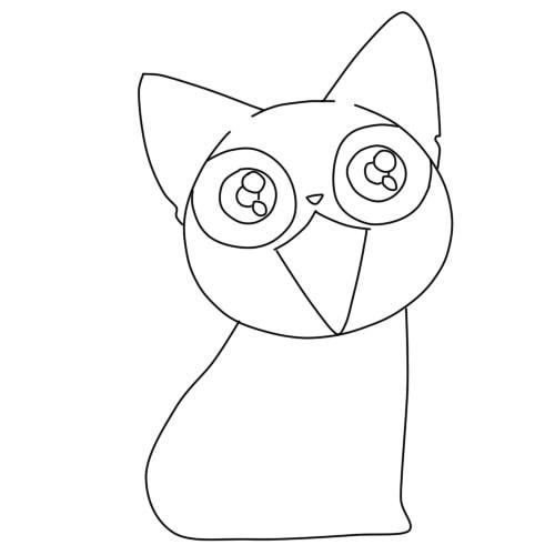 как нарисовать аниме кошку шаг 5