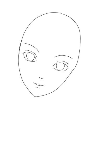 как нарисовать аниме девушку карандашом шаг 5