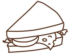 как нарисовать бутерброд шаг 5
