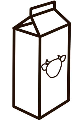 как нарисовать молоко карандашом шаг 5