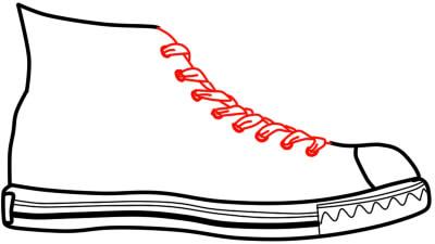 как нарисовать кеды шаг 5