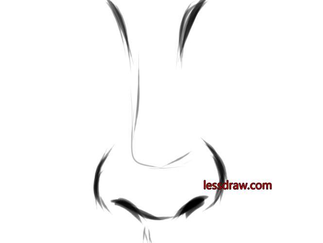 Нос раскраски для детей