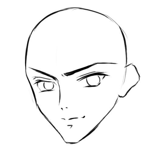 как нарисовать аниме парня шаг 5