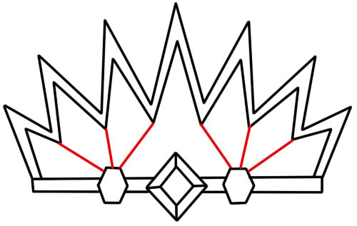корона нарисованная картинка