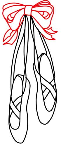 как нарисовать пуанты шаг 5