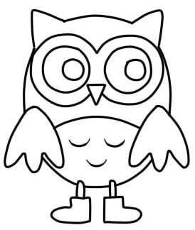 как нарисовать сову ребенку шаг 5