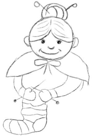 как нарисовать бабушку шаг 5