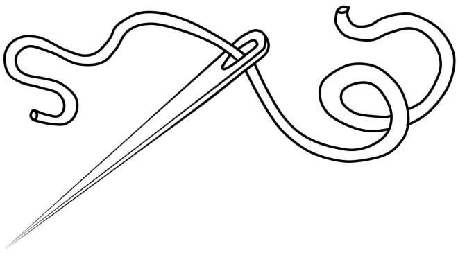 как нарисовать иголку шаг 5