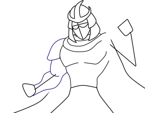 как нарисовать шредера шаг 6