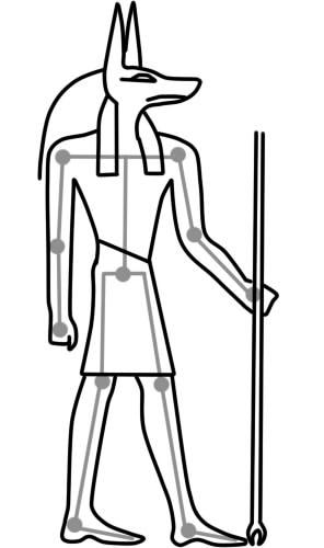как нарисовать анубиса шаг 6