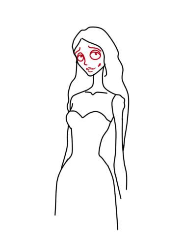 как нарисовать труп невесты шаг 6