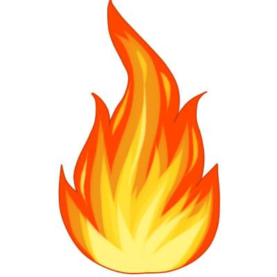как нарисовать огонь поэтапно шаг 6