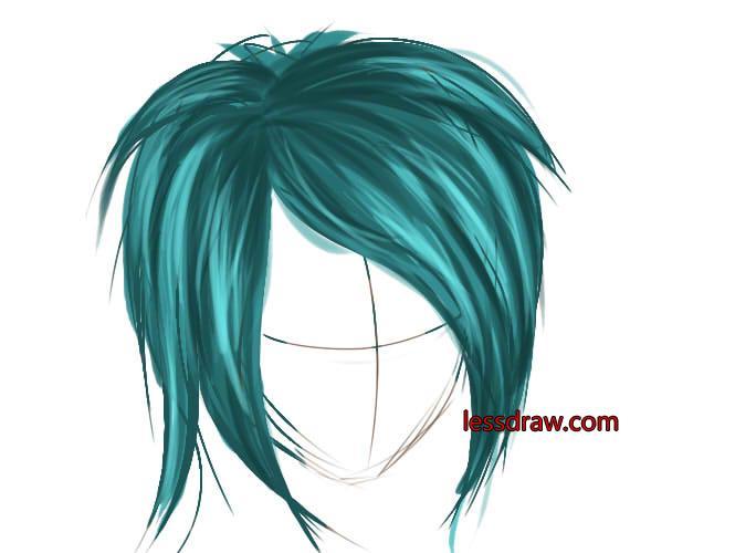 как рисовать в саи волосы шаг 6